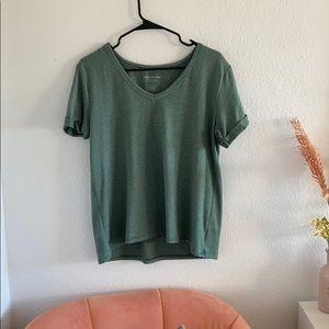 Super soft green striped green tshirt